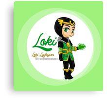 YA Chibi Kid Loki Canvas Print