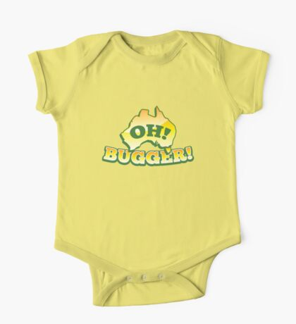OH! Bugger! Aussie Australian map OZ funny design One Piece - Short Sleeve