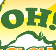 OH! Bugger! Aussie Australian map OZ funny design Sticker