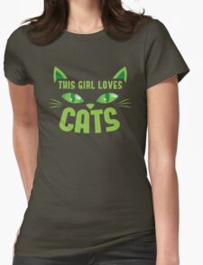 This girl loves cats with cute kitty whiskers T-Shirt