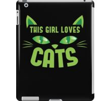 This girl loves cats with cute kitty whiskers iPad Case/Skin