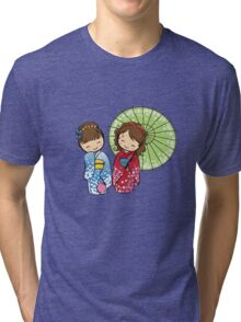 Little Japanese girls Tri-blend T-Shirt