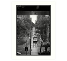 city tram Art Print