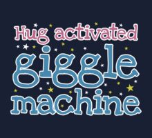 Hug activated GIGGLE Machine giggles and smiles and stars Kids Tee
