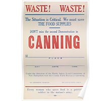 United States Department of Agriculture Poster 0239 Canning Waste Poster