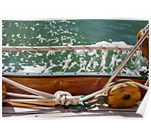 Wooden Pulley And Sailor's Knot Poster