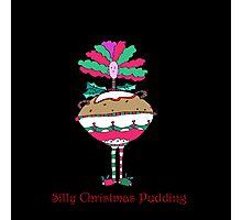 Silly Christmas Pudding Photographic Print