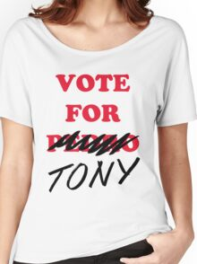 VOTE FOR TONY Women's Relaxed Fit T-Shirt