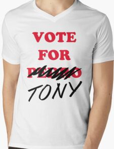 VOTE FOR TONY Mens V-Neck T-Shirt