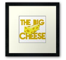 The BIG cheese in yellow Framed Print
