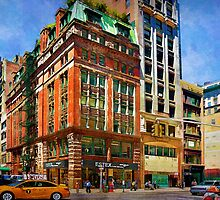 Manhattan Street Scene by Stuart Row