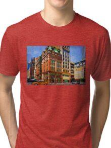 Manhattan Street Scene Tri-blend T-Shirt