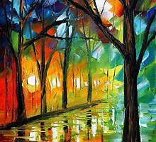 EMOTIONAL COLLAGE - Original Art Oil Painting By Leonid Afremov by Leonid  Afremov