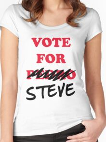 VOTE FOR STEVE Women's Fitted Scoop T-Shirt
