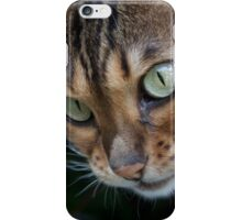 Beautiful Bengal Cat Observing Something iPhone Case/Skin