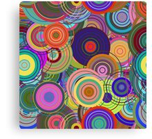 Super Cute Retro Mod Abstract Circles Canvas Print