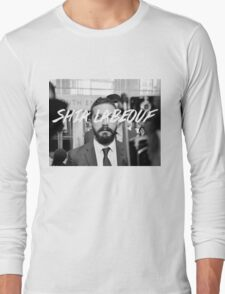 Shia Labeouf Black and White Long Sleeve T-Shirt