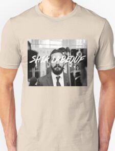 Shia Labeouf Black and White T-Shirt