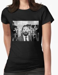 Shia Labeouf Black and White Womens Fitted T-Shirt