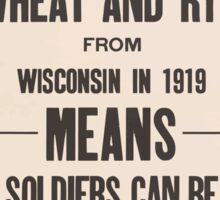 United States Department of Agriculture Poster 0278 A Million Acres of Wheat and Rye from Wisconson 1919 Sticker