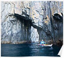 Kayaker, Bruny Island, Tasmania Poster