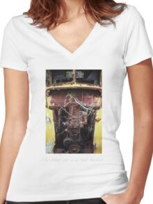 """My Other Car is a Rust-Bucket..."" Women's Fitted V-Neck T-Shirt"