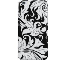 Black-Floral-Vintage Pattern Iphone Case iPhone Case/Skin