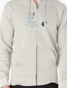 Snowbot is programmed to love Zipped Hoodie