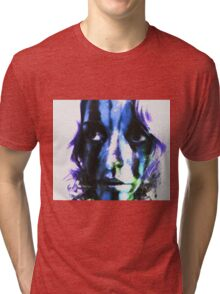 Faces Of Beautiful Horror- Image 4 Tri-blend T-Shirt