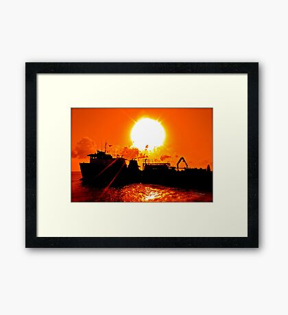 Industrial Re-evolution! Framed Print