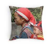 Mother and Child - Vietnam Throw Pillow