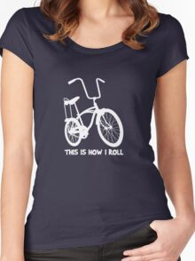 This Is How I Roll - Retro Bicycle Women's Fitted Scoop T-Shirt