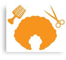 AFRO Hairdresser stylist Canvas Print