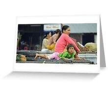 Mother and Daughter-Vietnam Greeting Card