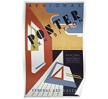 WPA United States Government Work Project Administration Poster 0208 Regional Poster Exhibition Federal Art Gallery New York New Jersey Poster