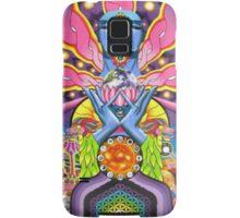 DMT magic mushroom ayahuasca trippy psychedelic art Samsung Galaxy Case/Skin