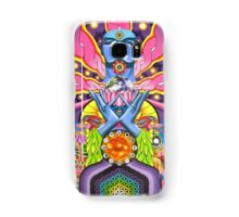 DMT magic mushroom ayahuasca trippy psychedelic art Samsung Galaxy Case/Skin