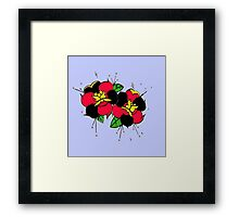 Tattoo flowers Framed Print