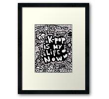Kpop is my life now ♥ Framed Print