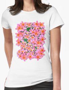 Pink Frangipani Flowers T-Shirt