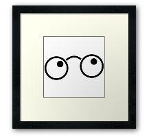 Nerdy cute wizard boy glasses Framed Print