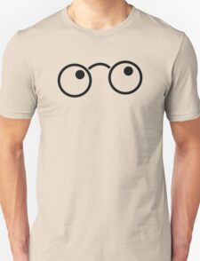 Nerdy cute wizard boy glasses Unisex T-Shirt