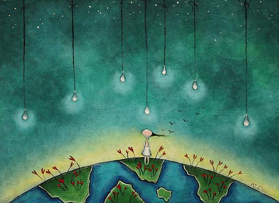 You light up my world by Amanda  Cass