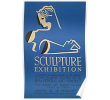 WPA United States Government Work Project Administration Poster 0648 Sculpture Exhibition Poster