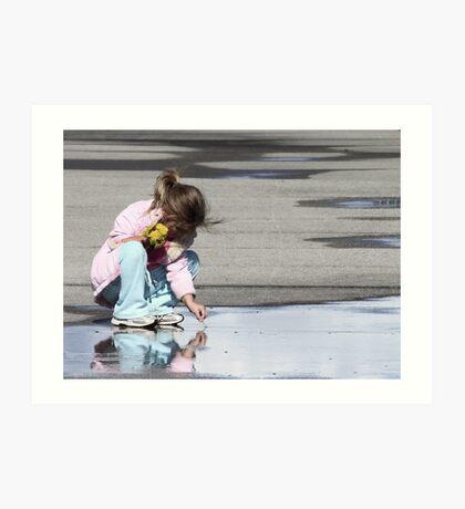 Boardwalk Reflection Art Print