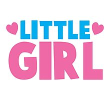 Little girl cute with heart Photographic Print