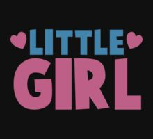 Little girl cute with heart Baby Tee