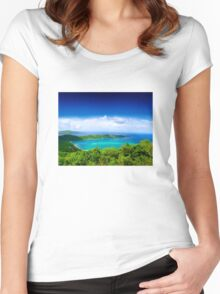 Post Card from Hawaii  Women's Fitted Scoop T-Shirt