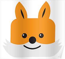 Super cute KAWAII foxy face  Poster