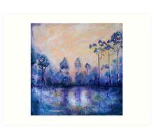 Violet Landscape Art Print